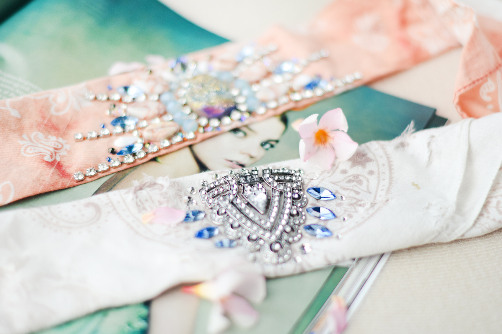 Seafoam Coachella-inspired Handmade Headbands by Quiet Lion Creations
