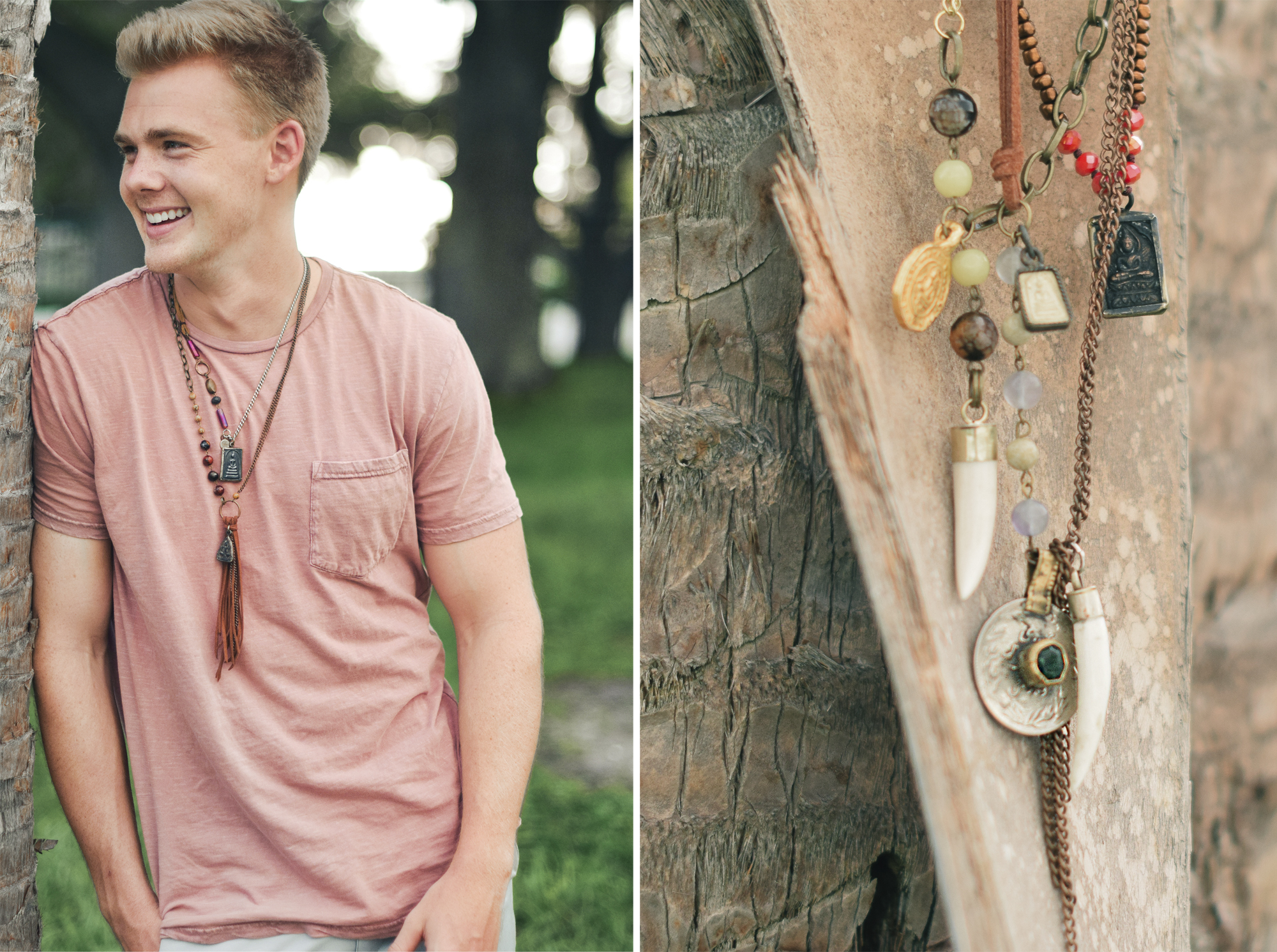 Model: Ryan Folliard - Boho men's jewelry by Quiet Lion Creations