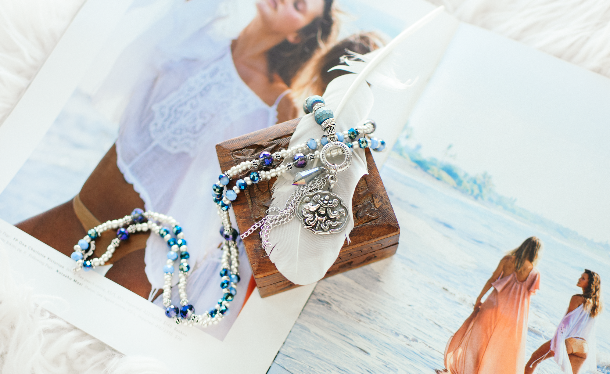 DIY Boho Beaded Bracelet/Necklace Duo