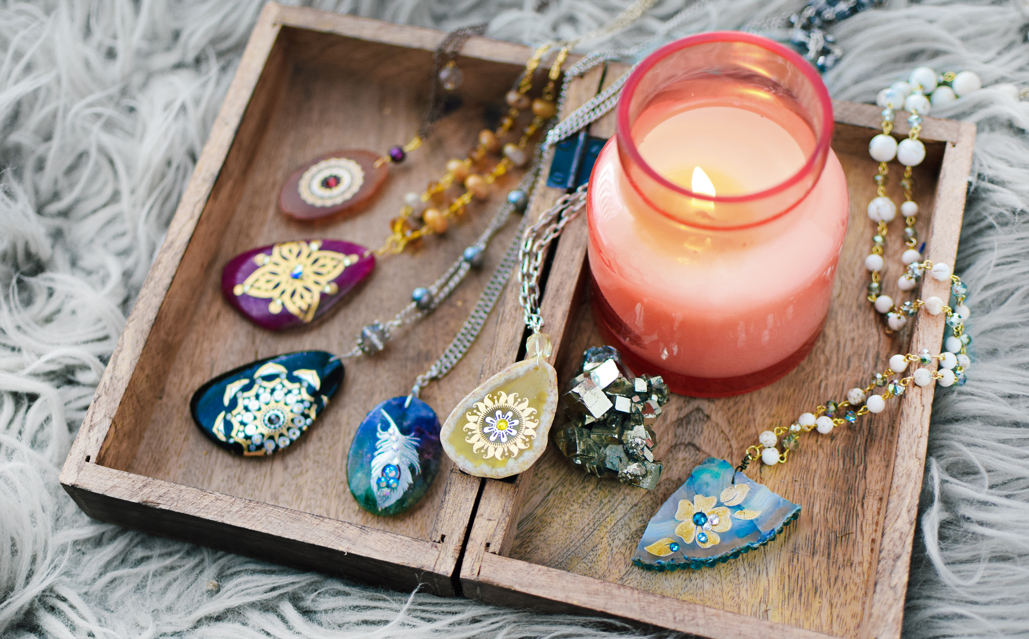 Boho Bliss Agates, by Quiet Lion / Allison Cooling