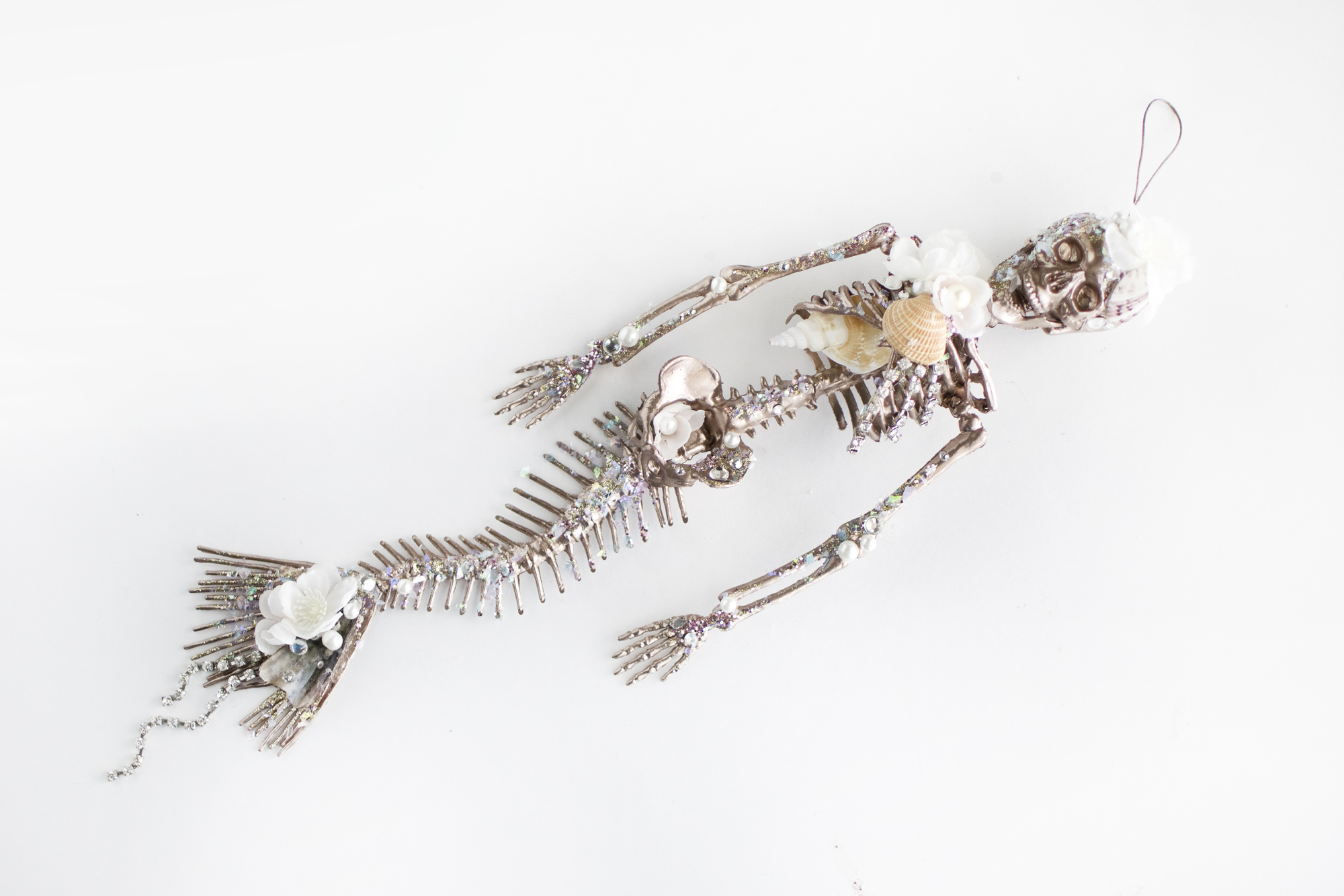 DIY Mermaid Skeleton Mobile by Quiet Lion Creations