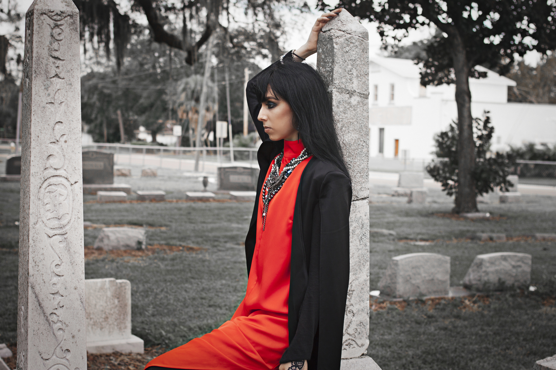 Halloween goth fashion lookbook by Quiet Lion Creations
