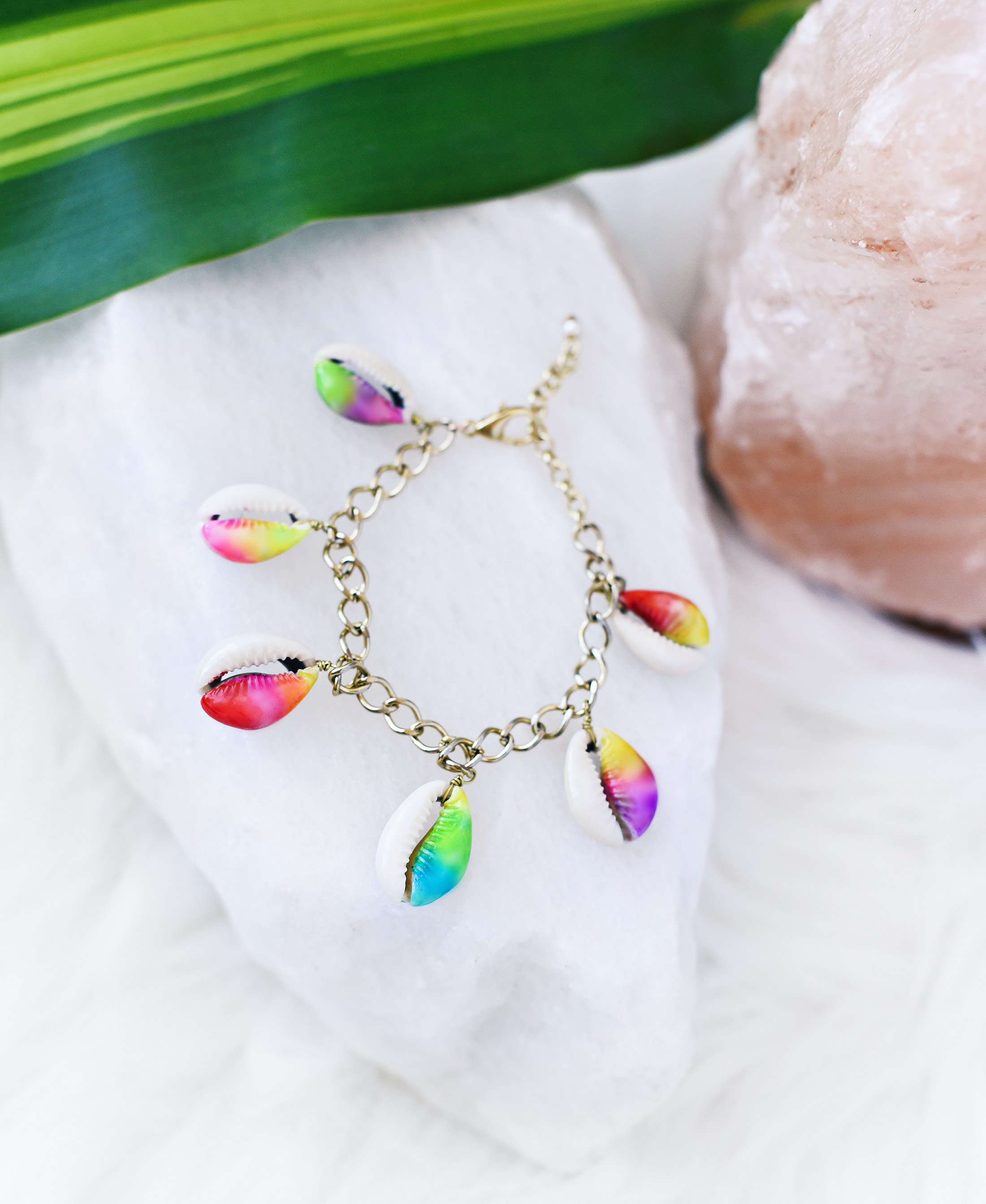 Tie Dye Shell Jewelry by Quiet Lion Creations