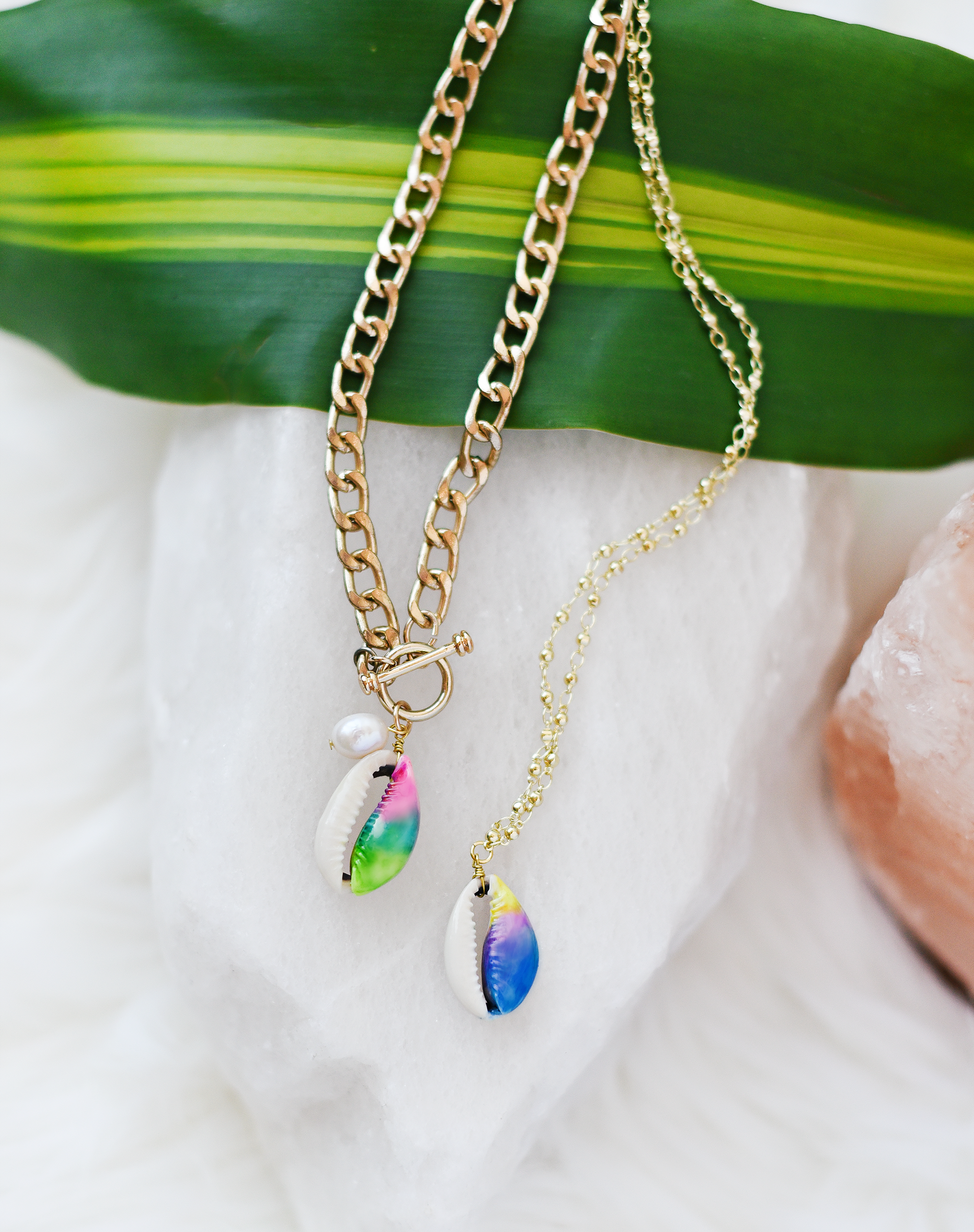 DIY Tie Dye Shell Jewelry by Quiet Lion Creations