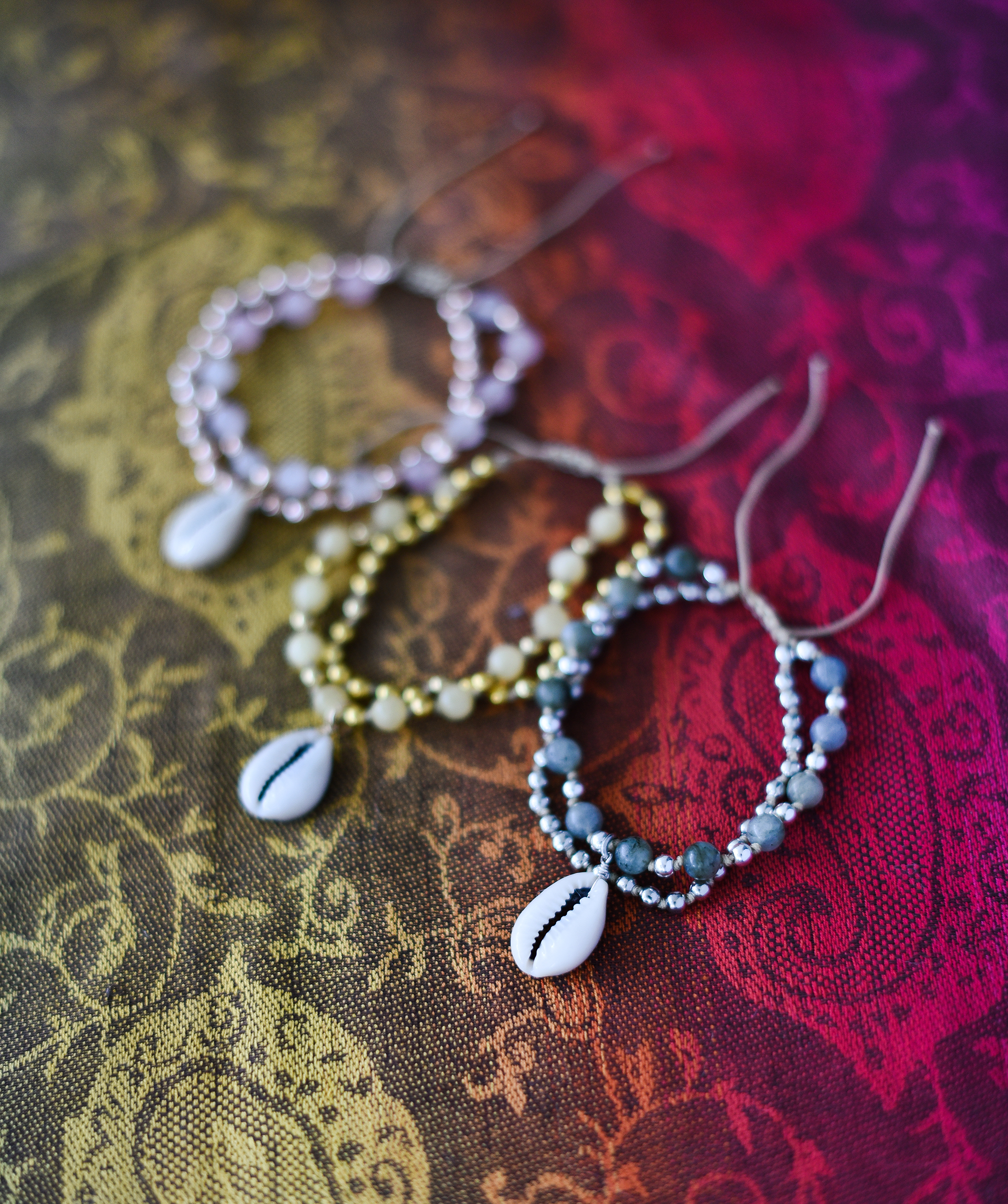 DIY Boho Beach Knotted Bracelets by Quiet Lion Creations
