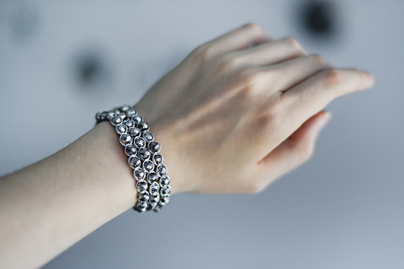 DIY Metallic Crystal Wrap Bracelets